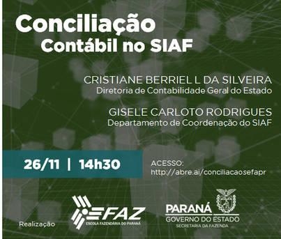 Live YouTube - Apresentação da Orientação Técnica Contábil n.º 006/2020 sobre Conciliação Contábil
